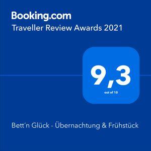 Bett'n Glück booking Traveller Review Award